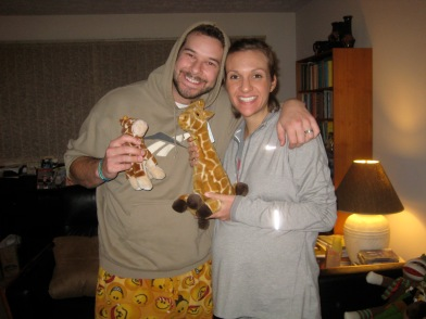 Giraffes for Bob!  30 weeks pregnant, 12/3/2012